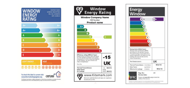uPVC Rating Labels